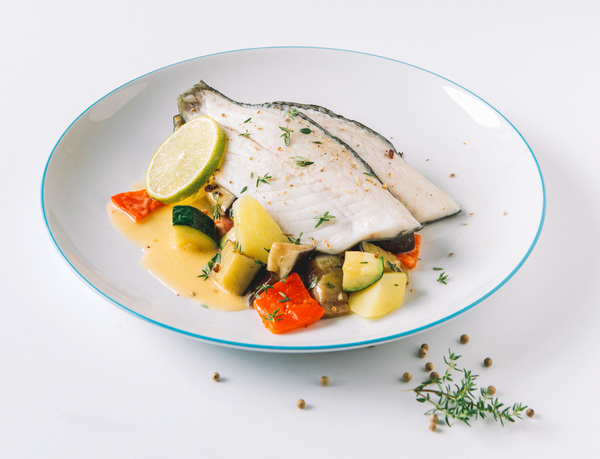 Omegabaars Met Courgettes In Papillot Klein